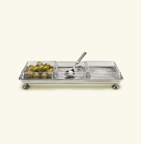 Match Pewter Footed Crudite Tray 1247.5