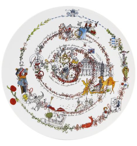 Vista Alegre 190 Plate The Chronology 33 Cm