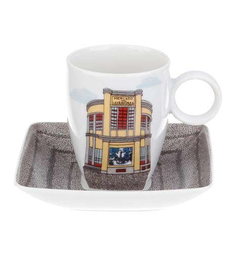 Vista Alegre Alma Da Madeira Coffee Cup & Saucer Lavradores Market