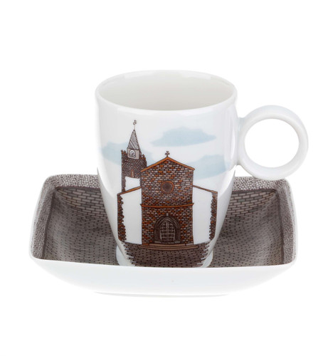 Vista Alegre Alma Da Madeira Cup & Saucer Funchal'S Cathedral
