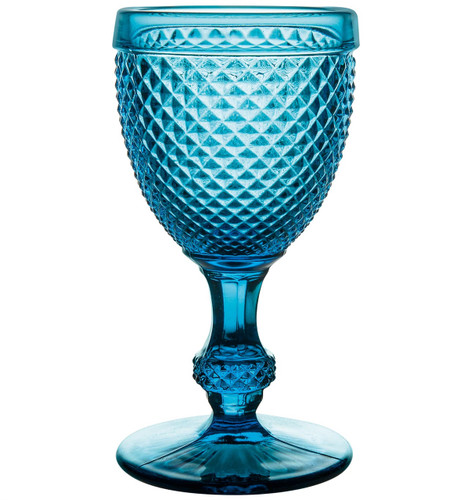 Vista Alegre Bicos Set of 4 White Wine Blue