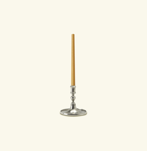 Match Pewter Round Based Candlestick With Rim a513.0