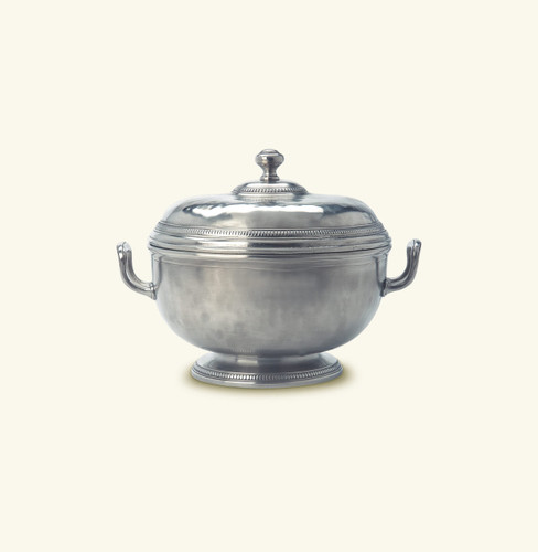 Match Pewter Beaded Round Tureen a529.0