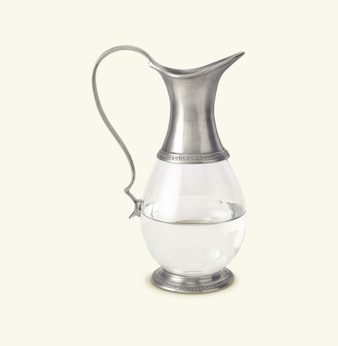 Match Pewter Glass Pitcher With Handle a595.0