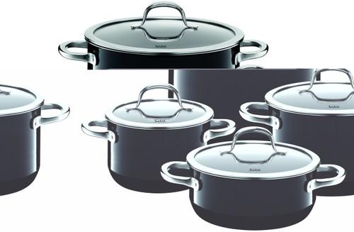 Silit Passion 8-pc Cookware Set Black