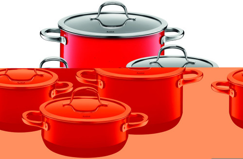Silit Passion 8-pc Cookware Set Red