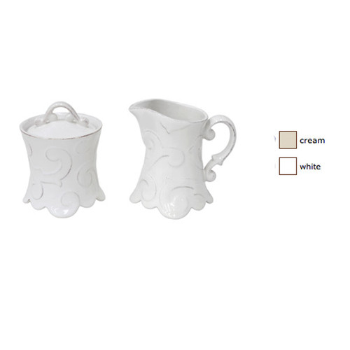 Casafina Arabesque Creamer and Sugar