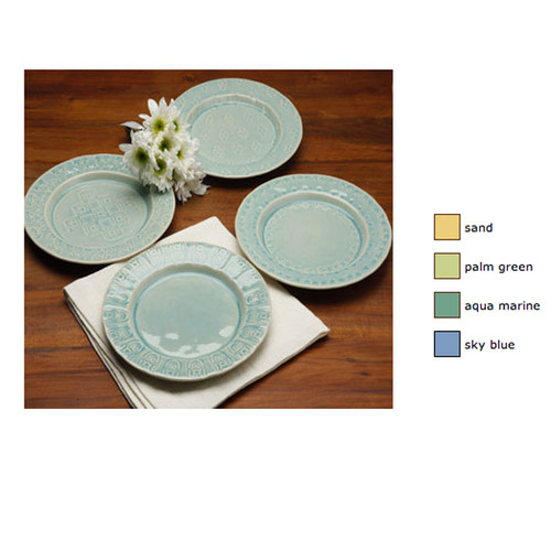 Casafina Corsica Set 4 Relief Salad Dessert Plates