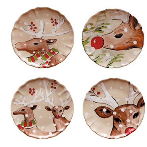 Casafina Deer Friends Dinner Plate Set of 4