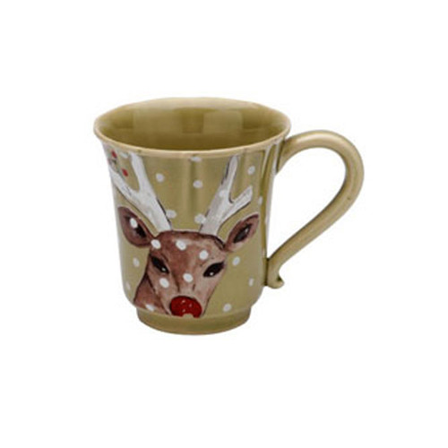 Casafina Deer Friends Coffee Mug Set of 4