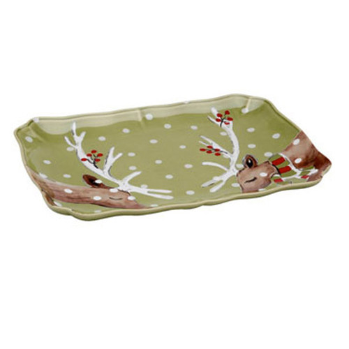 Casafina Deer Friends Rectangular Platter