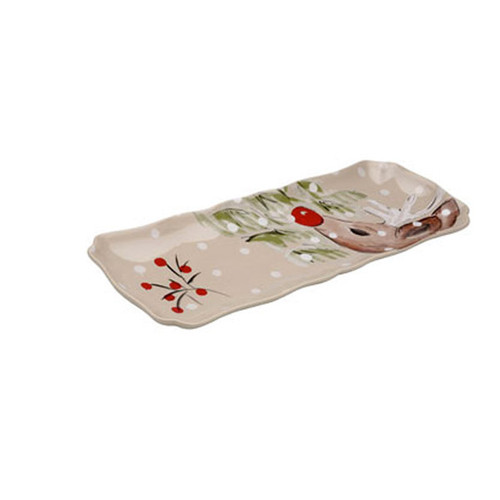 Casafina Deer Friends Rectangular Tray