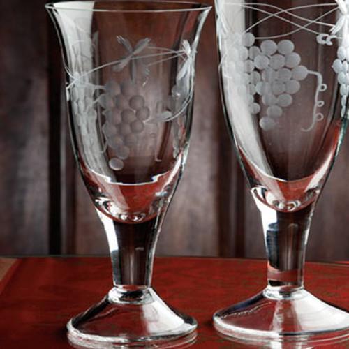 Casafina Glassware Wine Stem Grapes Set of 6
