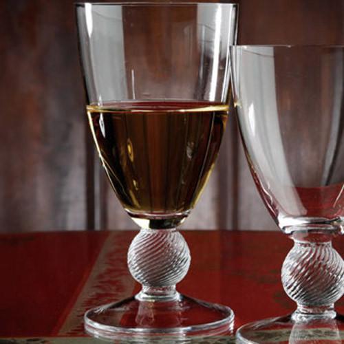 Casafina Glassware Water Stem Optic Ball Set of 6