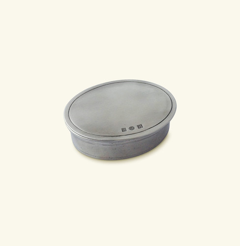 Match Pewter Oval Dresser Box Small A795.5