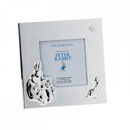 Wedgwood Peter Rabbit Silver Picture Frame 3.5X3.5 Inch