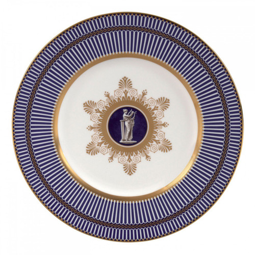 Wedgwood Anthemion Blue Accent Salad Plate 9 Inch