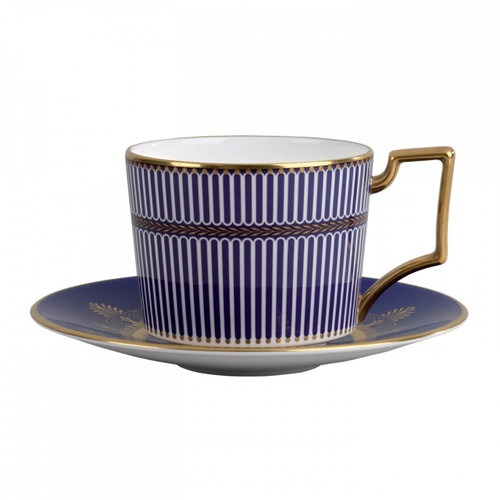 Wedgwood Anthemion Blue Tea Saucer