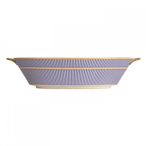 Wedgwood Anthemion Blue Open Vegetable Bowl