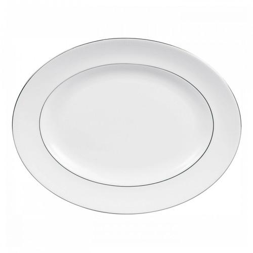 Vera Wang Blanc Sur Blanc Oval Platter 15.25 Inch