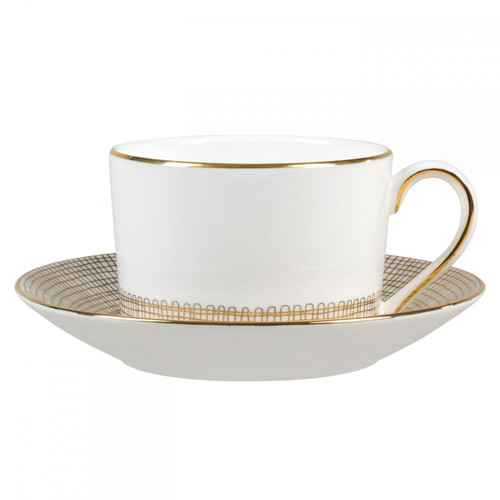 Vera Wang Gilded Weave Tea Saucer Imperial
