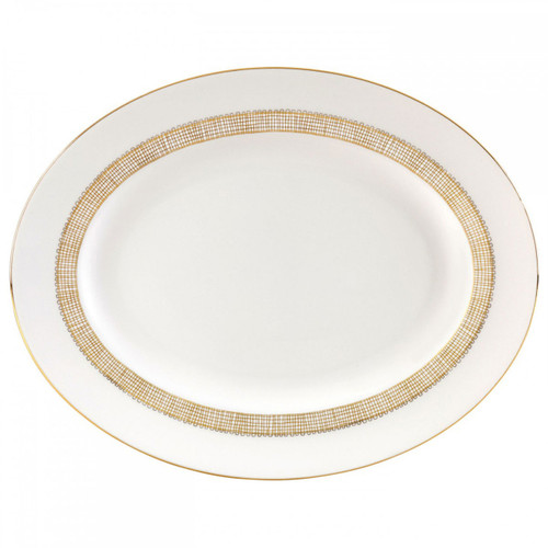 Vera Wang Gilded Weave Oval Platter 13.75 Inch