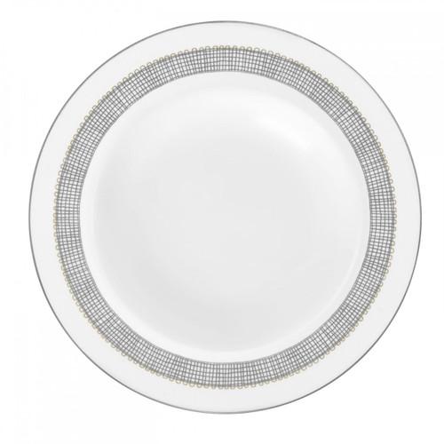 Vera Wang Gilded Weave Platinum Rim Soup Plate 9 Inch