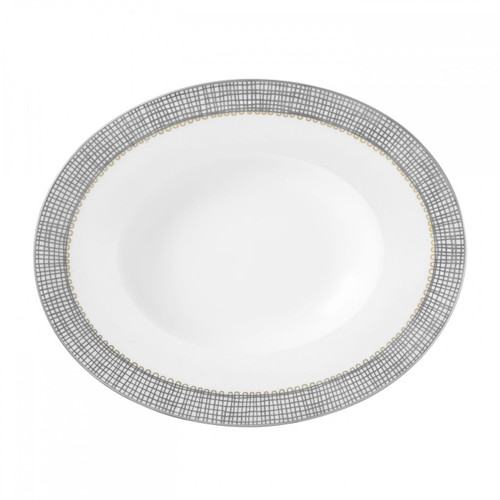 Vera Wang Gilded Weave Platinum Open Vegetable Oval 9.75 Inch
