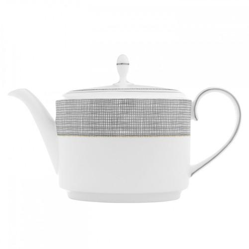Vera Wang Gilded Weave Platinum Teapot 1.4 Ltr