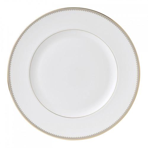 Vera Wang Golden Grosgrain Dinner Plate 10.75 Inch