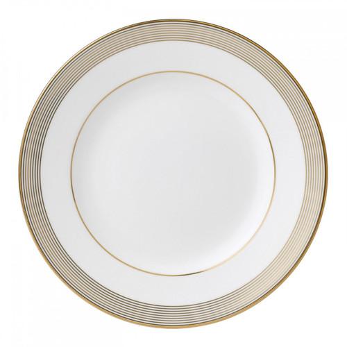 Vera Wang Golden Grosgrain Salad Plate 8 Inch