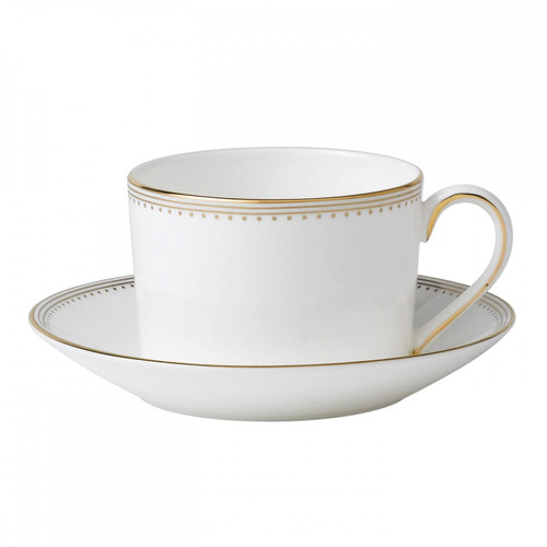 Vera Wang Golden Grosgrain Tea Saucer Imperial