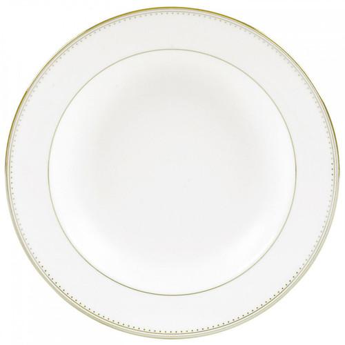 Vera Wang Golden Grosgrain Rim Soup Plate 9 Inch