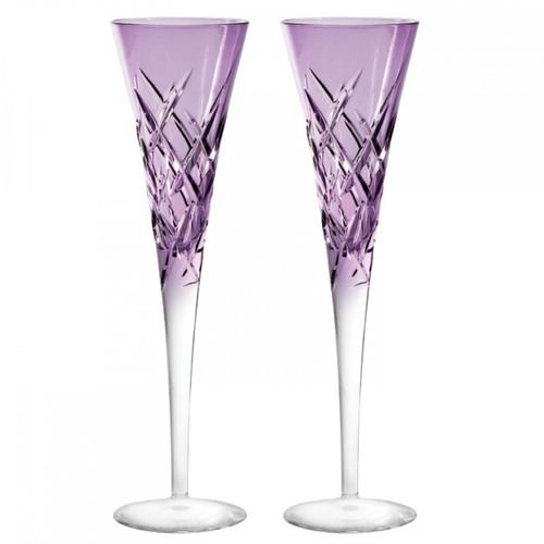 Vera Wang Duchesse Encore Toasting Flute Pair Lavender
