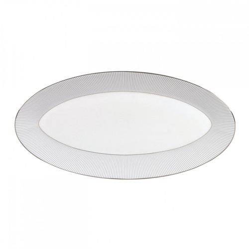 Wedgwood Jasper Conran Blue Pin Stripe Oval Platter 15.5 Inch