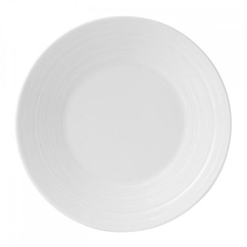 Wedgwood Jasper Conran White Bone China Bread and Butter Plate Swirl 7 Inch