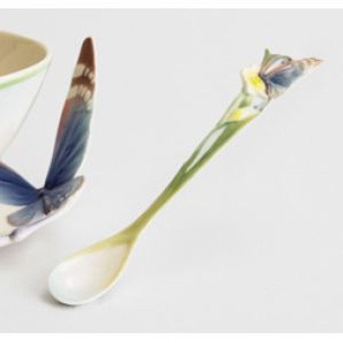 Franz Porcelain Butterfly Blue Porcelain Spoon FZ00211