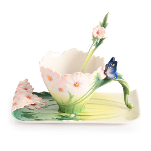Franz Porcelain Cosmos Of Color Cosmos And Butterfly Spoon FZ03013S