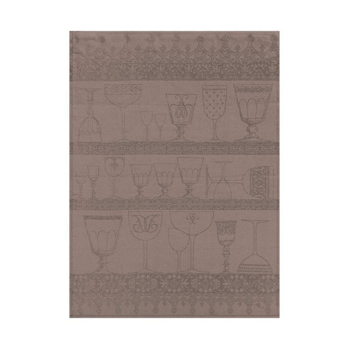 Le Jacquard Francais Cristal Black Pepper Crystal Towel 24 x 31