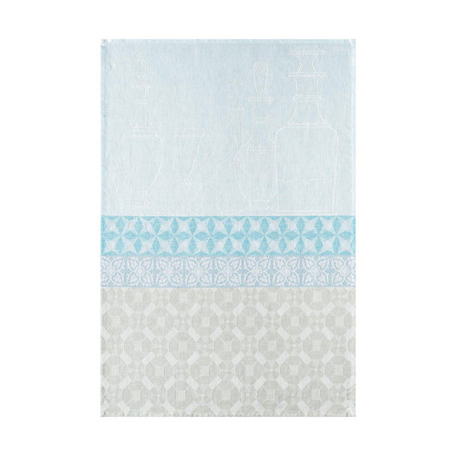 Le Jacquard Francais Carafes Blue Aqua Tea Towel 24 x 31 Set of 4