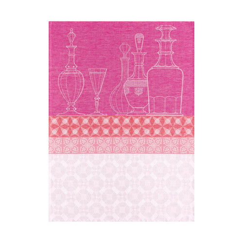 Le Jacquard Francais Carafes Raspberry Tea Towel 24 x 31 Set of 4