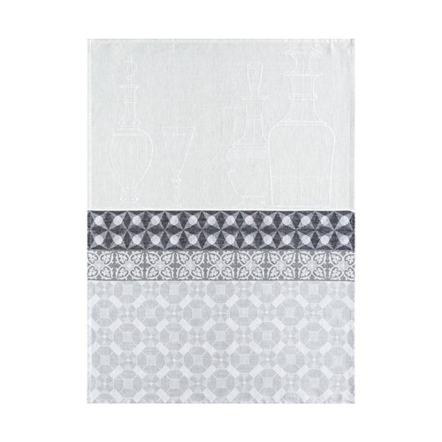 Le Jacquard Francais Carafes Grey Tea Towel 24 x 31 Set of 4