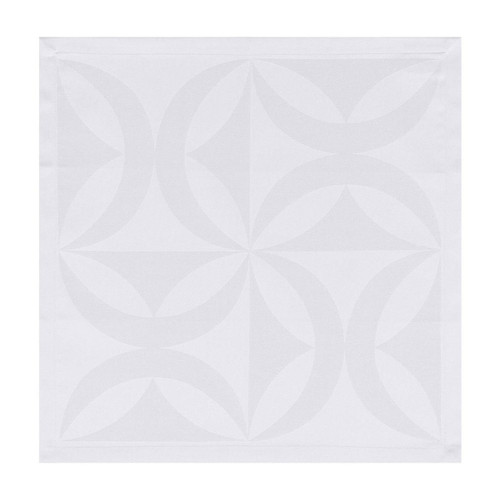 Le Jacquard Francais Ellipse White Napkin 19 x 19 Set of 4