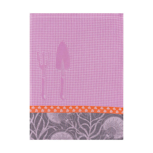 Le Jacquard Francais Hand Towel Jardinage Anemone 21 x 15 Pure Cotton