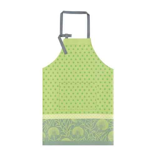 Le Jacquard Francais Apron Verger Shoot Green 36 x 38 Pure Cotton