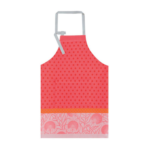 Le Jacquard Francais Apron Verger Poppy 36 x 38 Pure Cotton