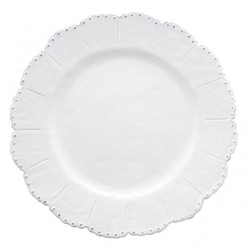Arte Italica Bella Bianca Beaded Dinner Plate BBS1003