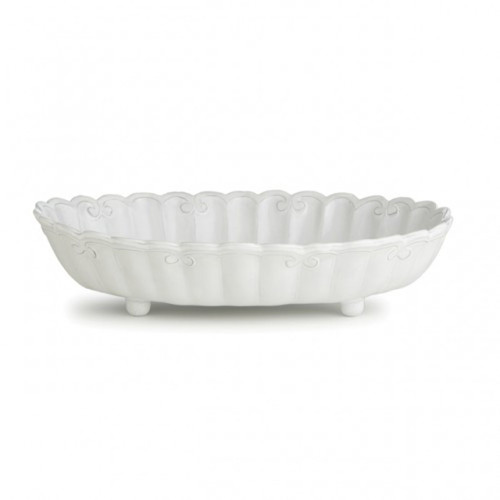 Arte Italica Bella Bianca Ribbon Shallow Serving Bowl BBS1021