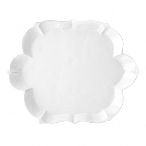 Arte Italica Bella Bianca Scalloped Tray BBS1025
