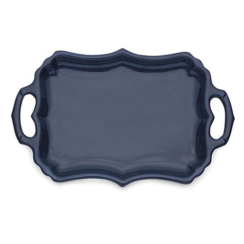 Arte Italica Burano Blue Tray with Handles BUR6836